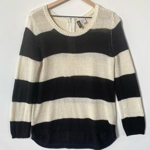Divided Striped Sweater, Size Medium